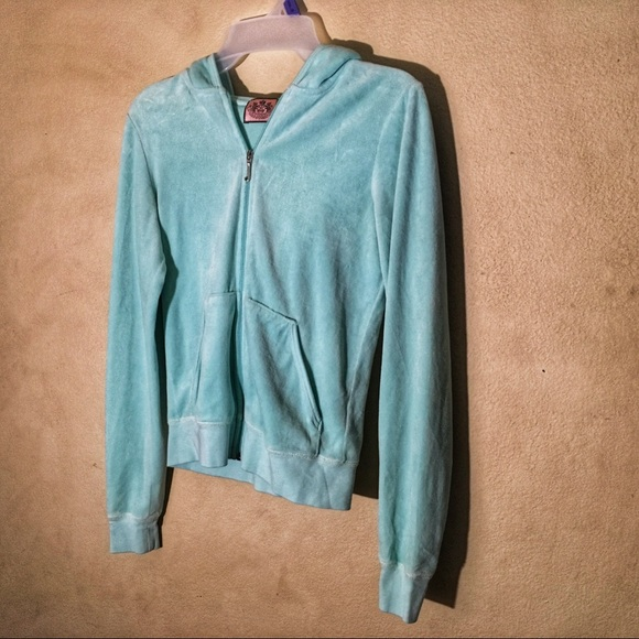 Juicy Couture Jackets & Blazers - Juicy Couture Mint Green Hoodie, Sz M